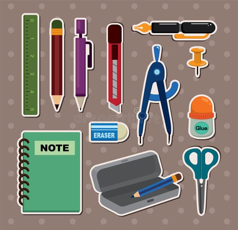 De stickers van de kantoorbehoeften vector illustratie