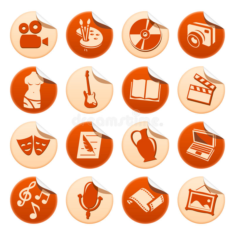 De stickers van de kunst & van de hobby stock illustratie