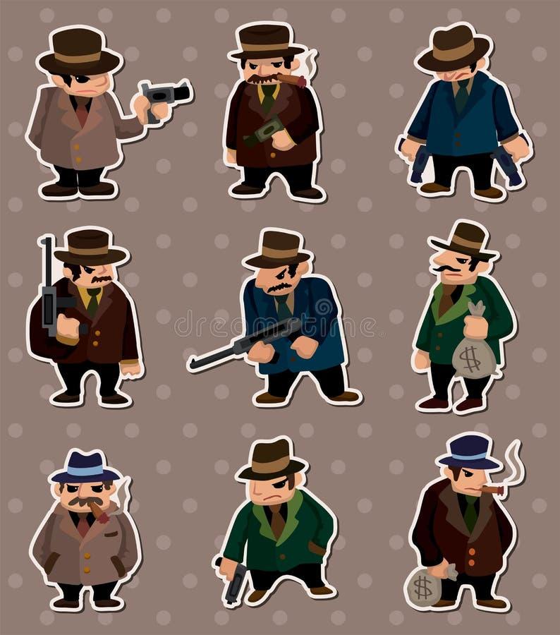 De stickers van de maffia vector illustratie