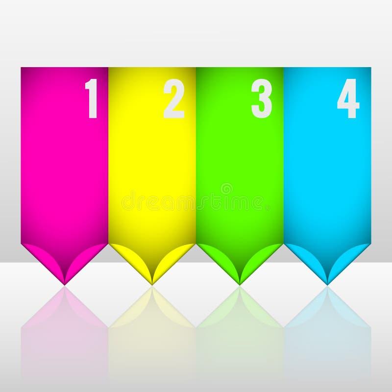 De stickers van de neonspeld vector illustratie