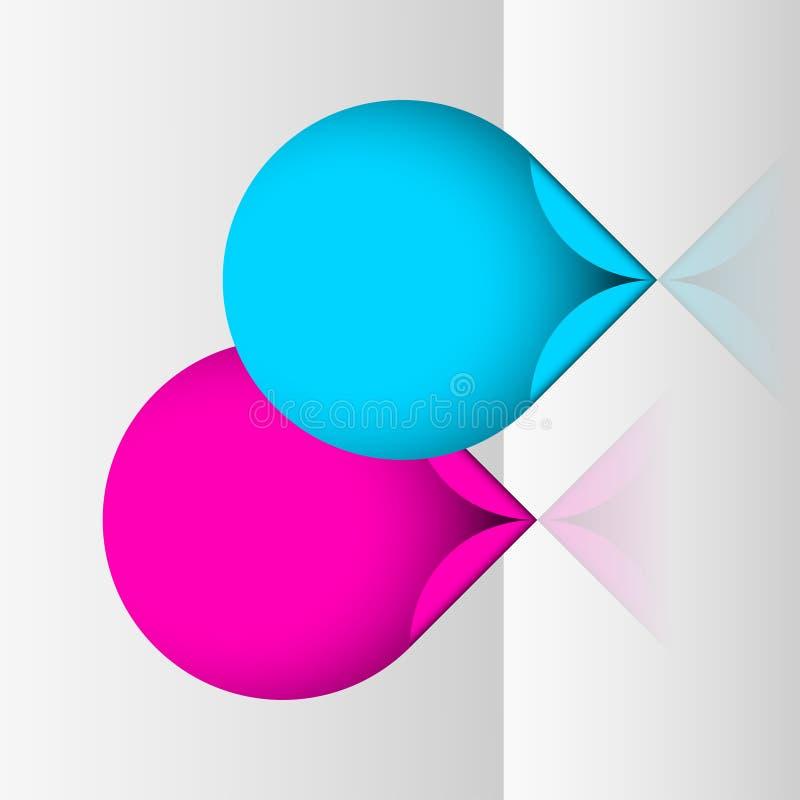 De stickers van de neonvlek stock illustratie