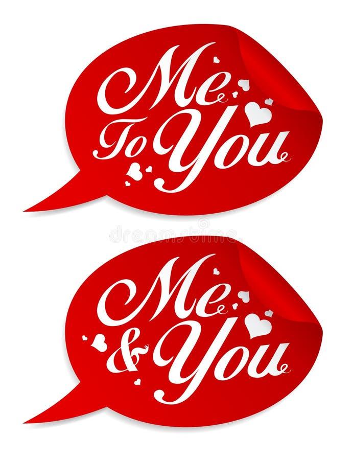 De stickers van de valentijnskaart. royalty-vrije illustratie