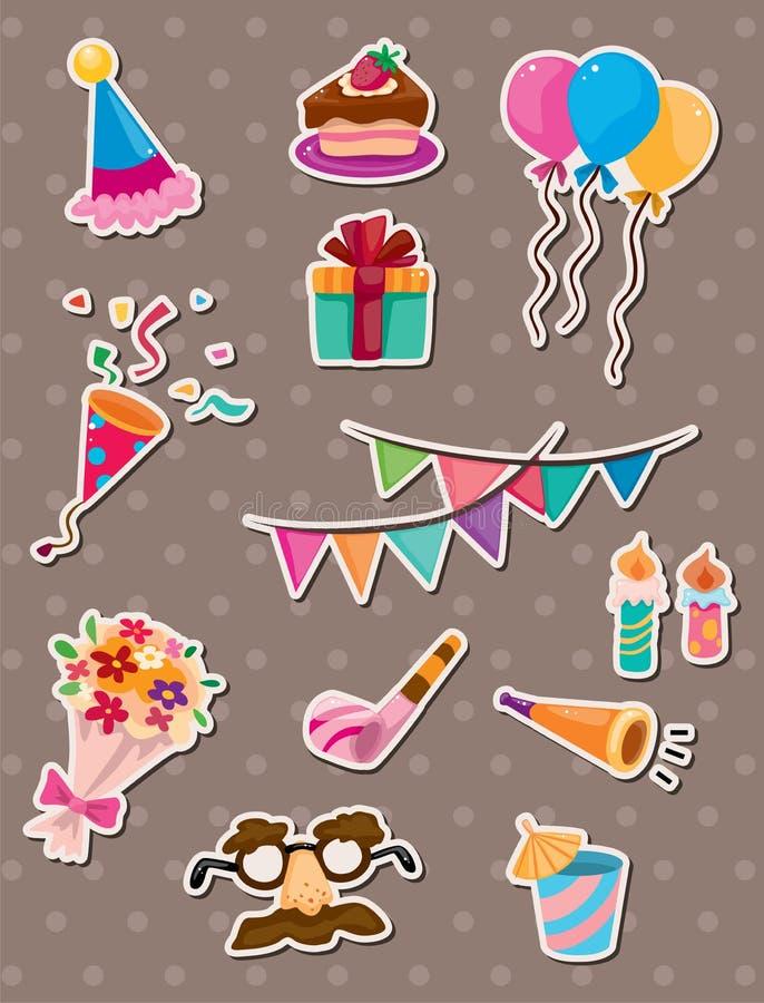 De stickers van de verjaardag stock illustratie