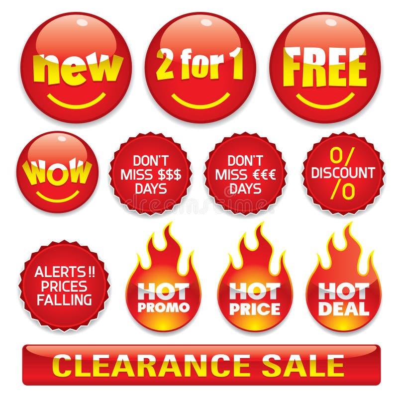 De stickers van de verkoop #2 vector illustratie
