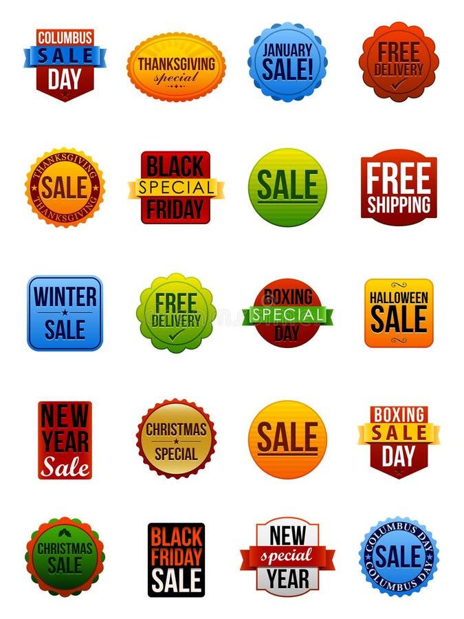 De Stickers van de verkoop