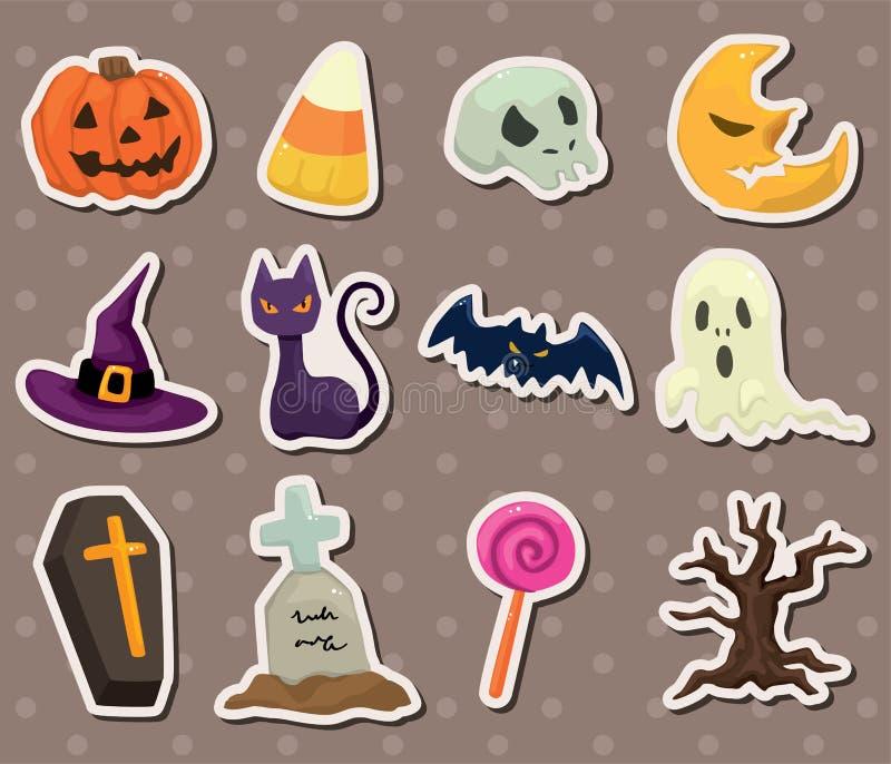 De stickers van Halloween vector illustratie