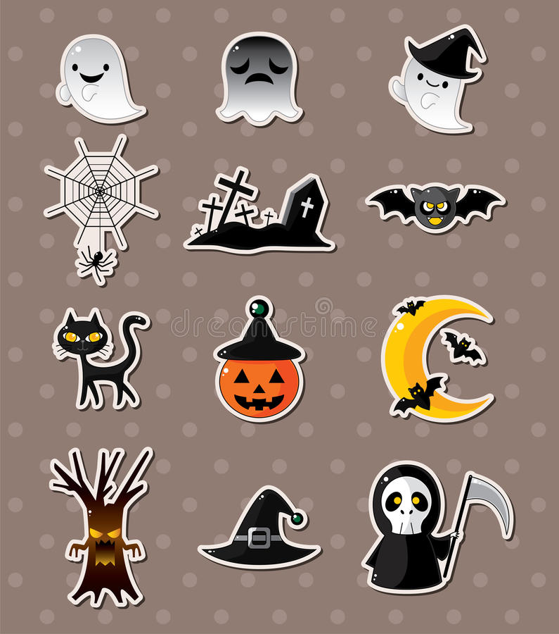 De stickers van Halloween royalty-vrije illustratie
