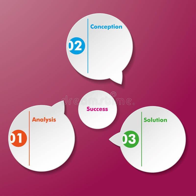 De Stickers van het de Oplossingssucces van de analyseconceptie stock illustratie