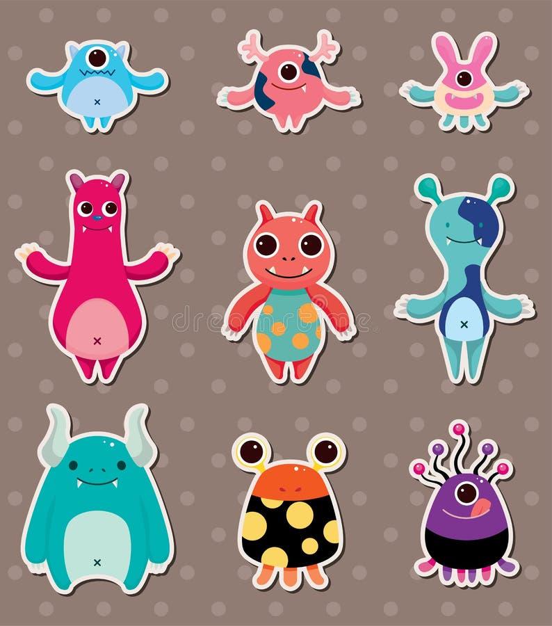 De stickers van het monster vector illustratie