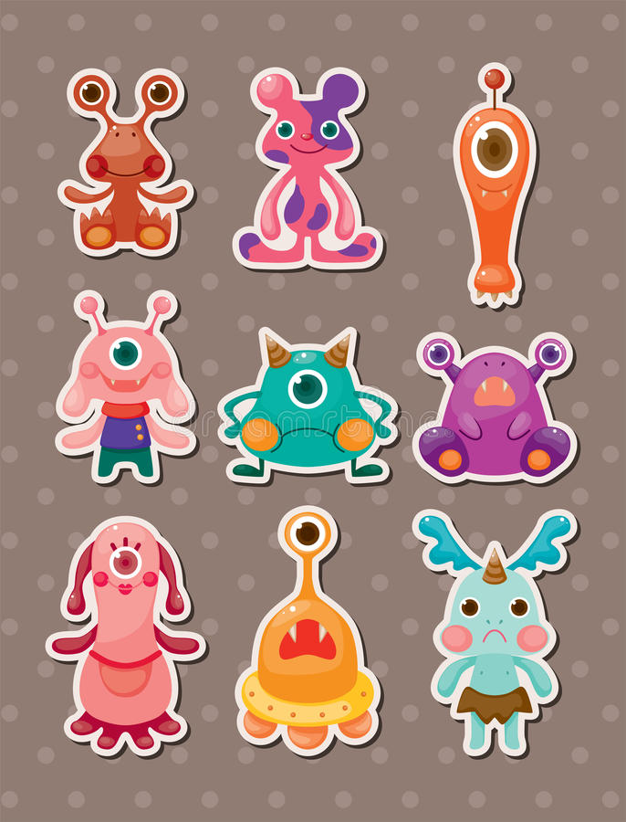 De stickers van het monster royalty-vrije illustratie