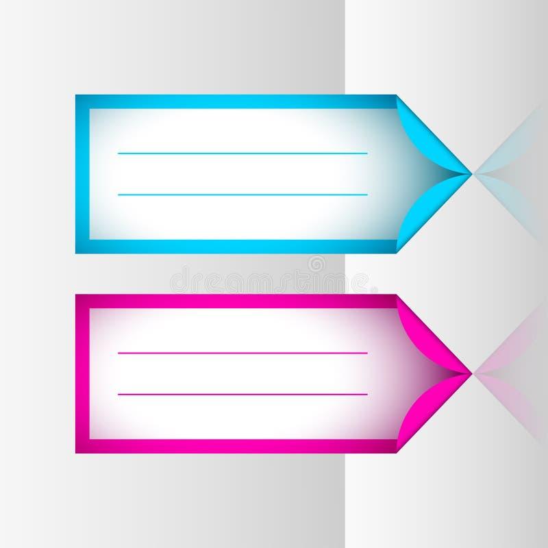 De stickers van het neonkader stock illustratie