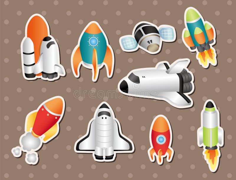 De stickers van het ruimteschip royalty-vrije illustratie