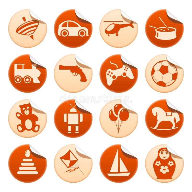 De stickers van het speelgoed vector illustratie