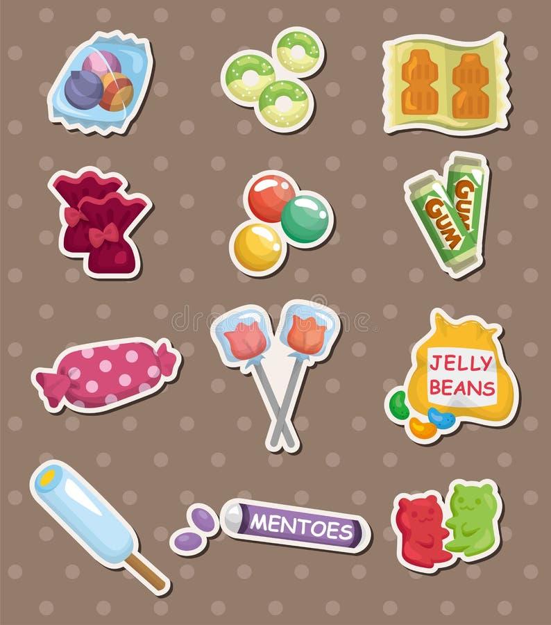 De stickers van het suikergoed royalty-vrije illustratie