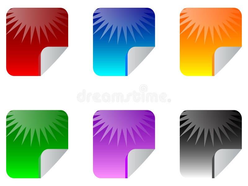 De stickers van het Web stock illustratie