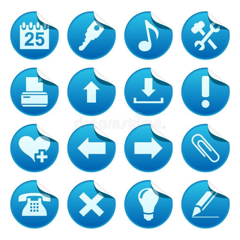 De stickers van het Web. Deel twee vector illustratie