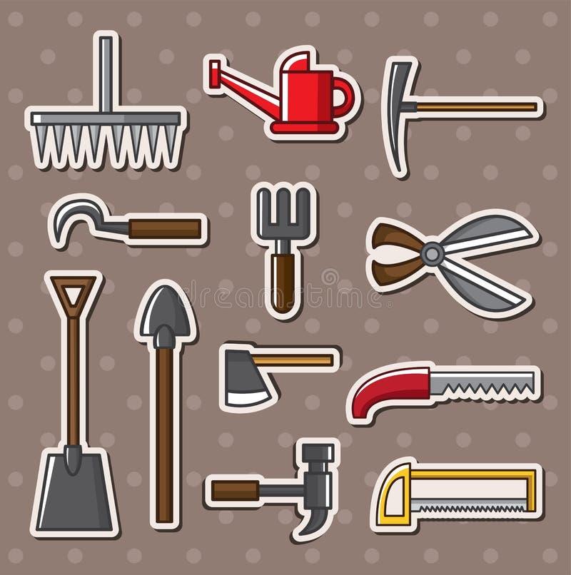 De stickers van hulpmiddelen stock illustratie