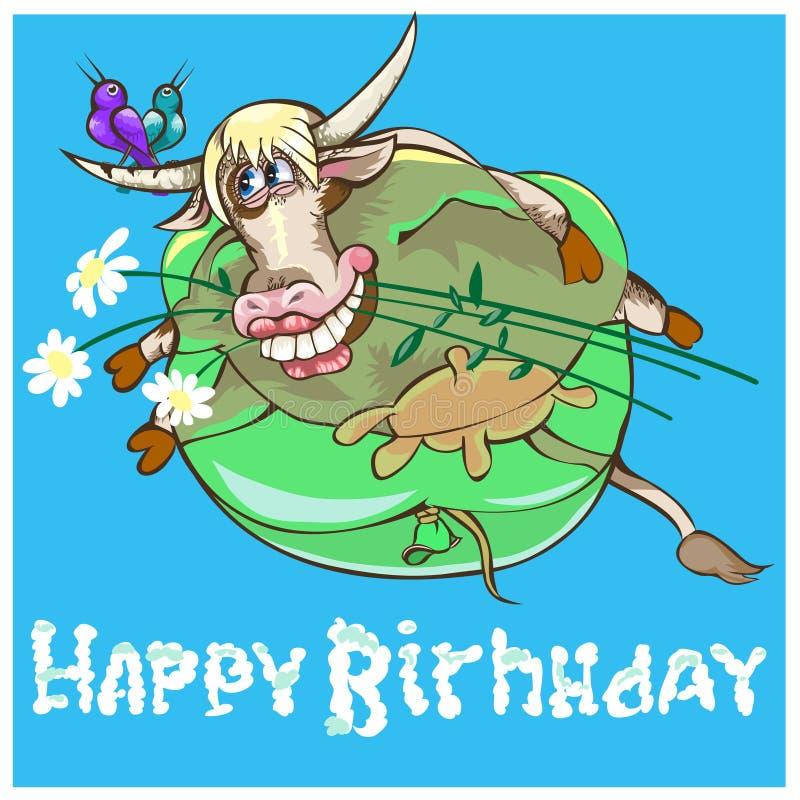 De Stier is het 2de teken van dierenriem stock illustratie