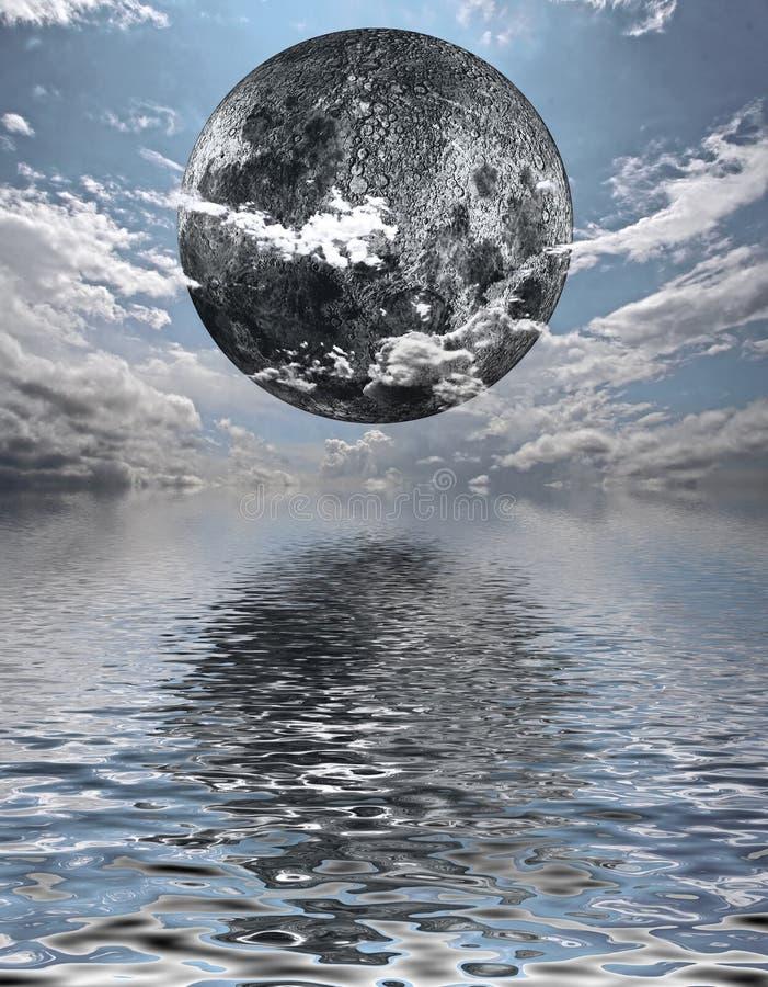 De Stijging van de maan royalty-vrije stock foto