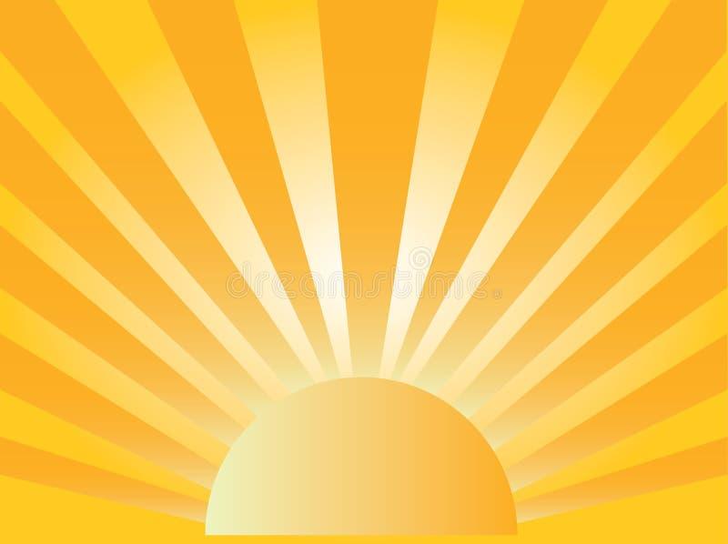 De stijging van de zon royalty-vrije illustratie