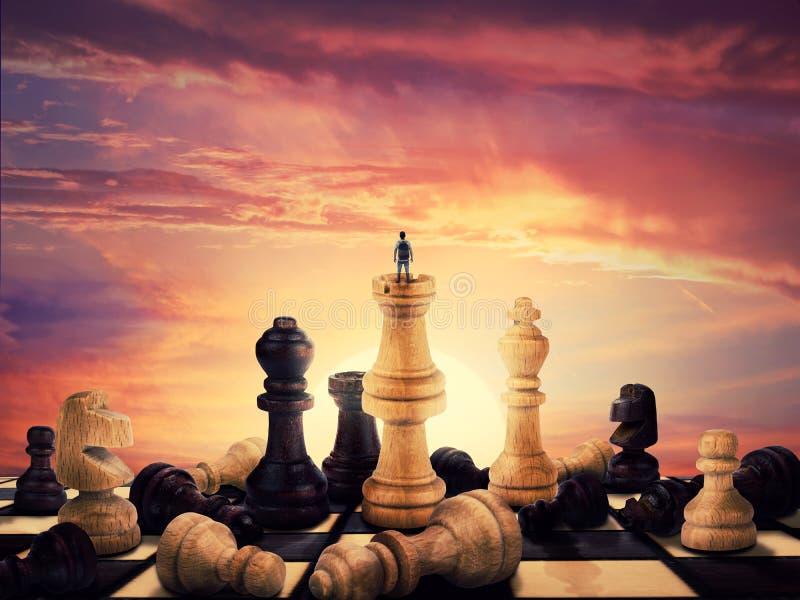 De stijging van een schaakspeler royalty-vrije stock afbeelding