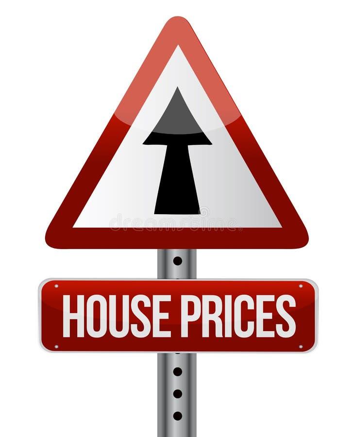 """de stijgings"""" teken """"van huisprijzen royalty-vrije illustratie"""