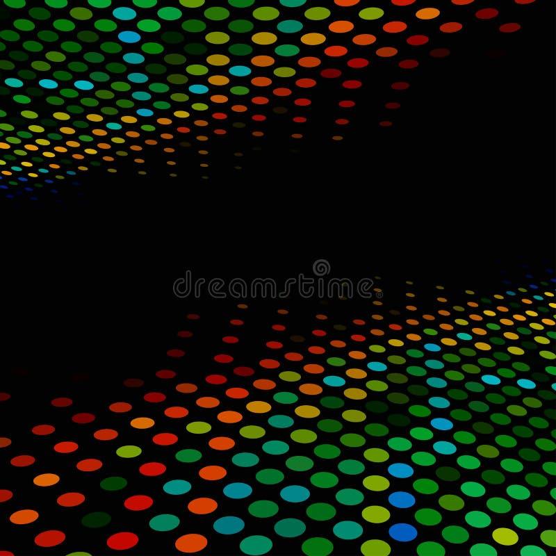 De stijl kleurrijke halftone van de disco royalty-vrije illustratie