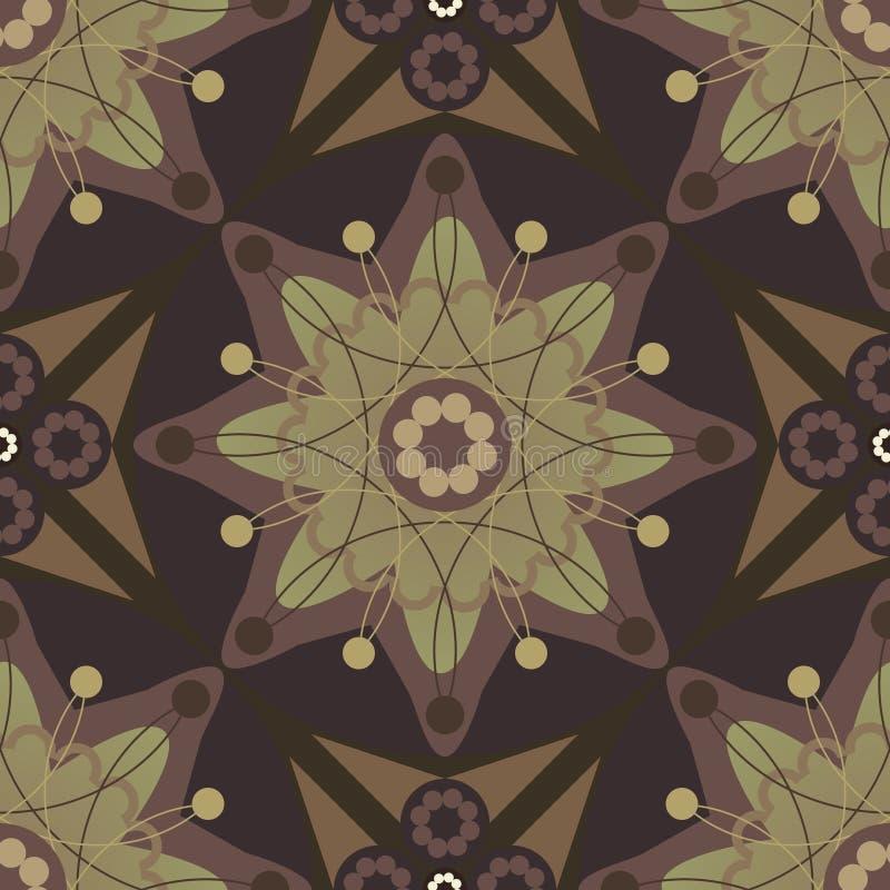 De Stijl Naadloze Pattern_eps van Rusland van de Bloem van de ster vector illustratie