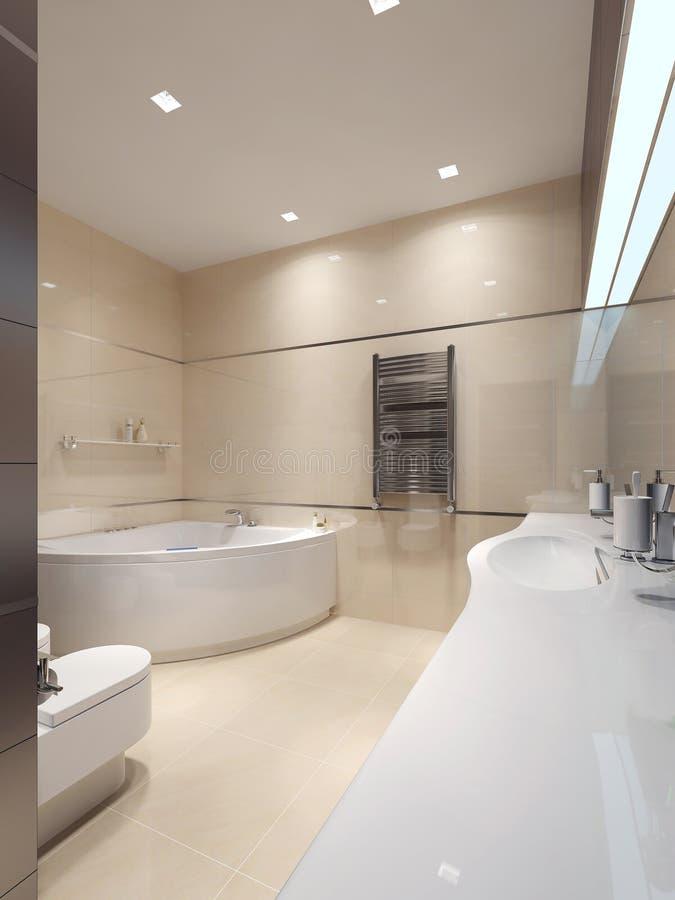 De stijl van badkamerstechno stock foto
