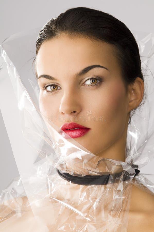 De stijl van de schoonheid wordt zij gedraaid van drie - kwarten stock fotografie