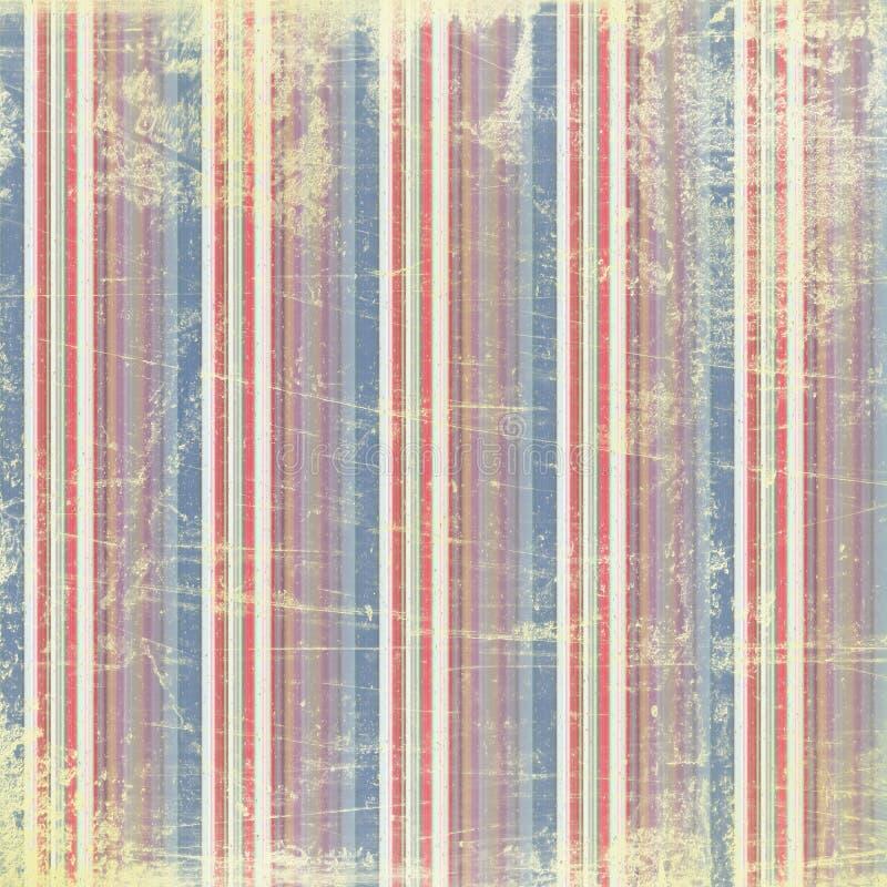 De stijl van Grunge: geschilderde lijnen met roest vector illustratie