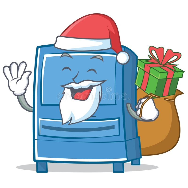 De stijl van het het karakterbeeldverhaal van de kerstmanbrievenbus vector illustratie