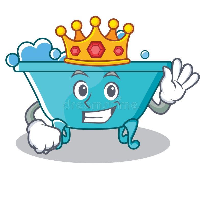 De stijl van het het karakterbeeldverhaal van de koningsbadkuip stock illustratie