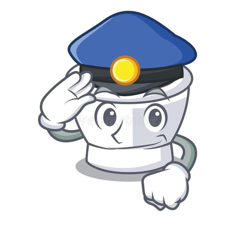 De stijl van het het karakterbeeldverhaal van het politiemortier stock illustratie
