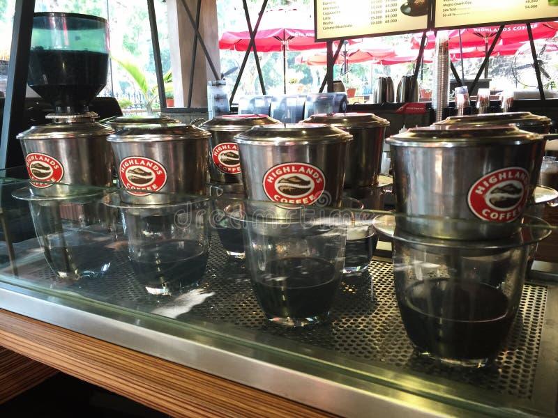 de stijl van koffievietnam, hooglandhighlandcoffee royalty-vrije stock foto's