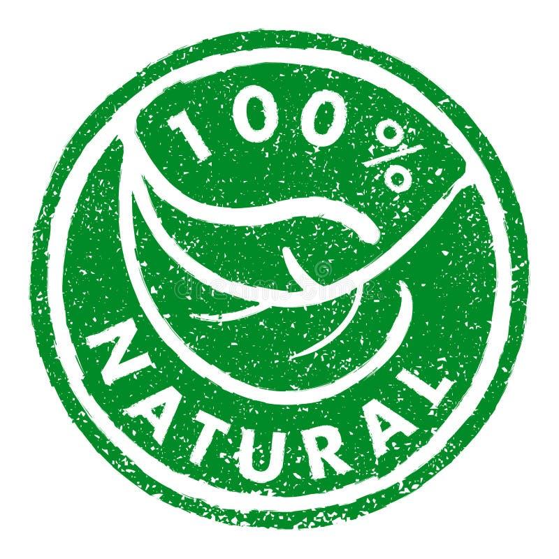 100% de stijl van de natuurrubberzegel grunge royalty-vrije illustratie