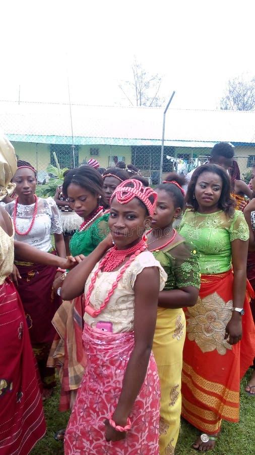 De stijl van Nigeria royalty-vrije stock afbeeldingen