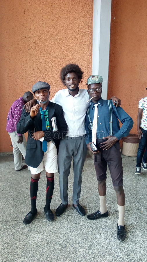 De stijl van Nigeria stock afbeeldingen