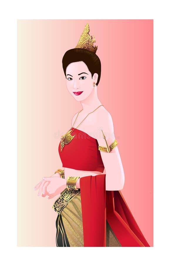 De stijl van vrouwenthailand stock afbeeldingen