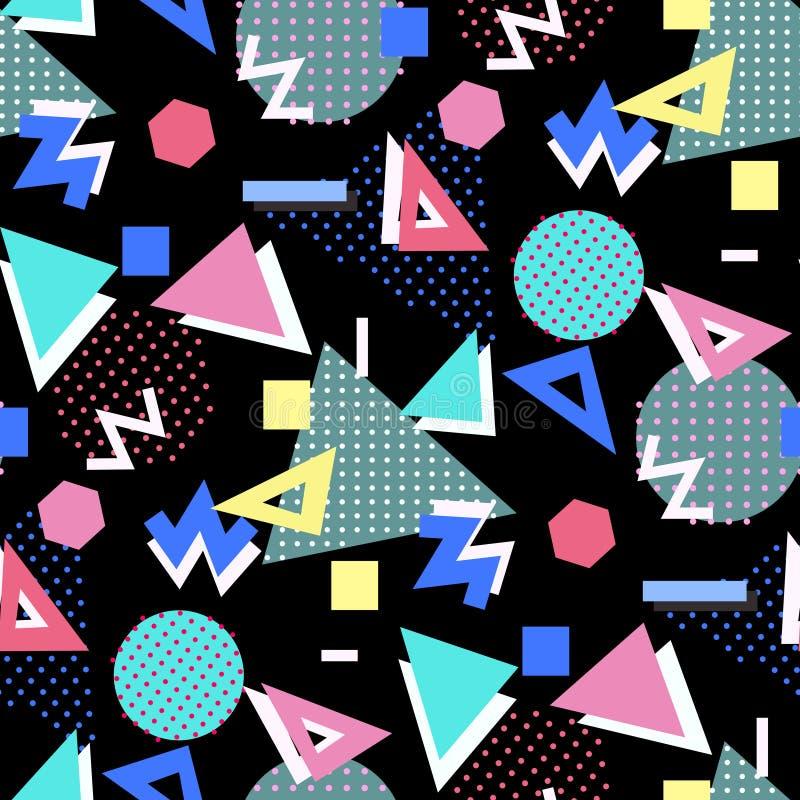 De stijlachtergrond van Memphis vector illustratie