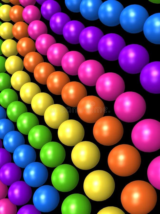 De stijlbal van de regenboog royalty-vrije illustratie