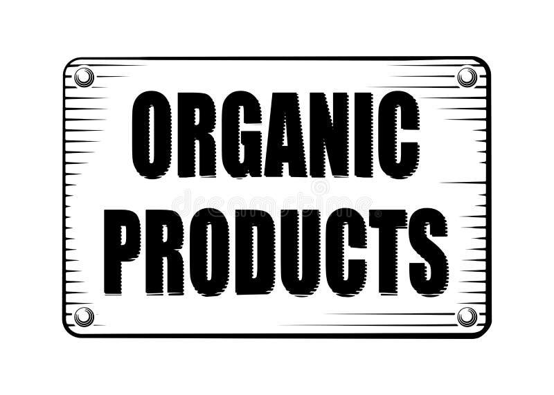 De stijletiket van de biologisch productgravure, schild, teken voor uw des vector illustratie