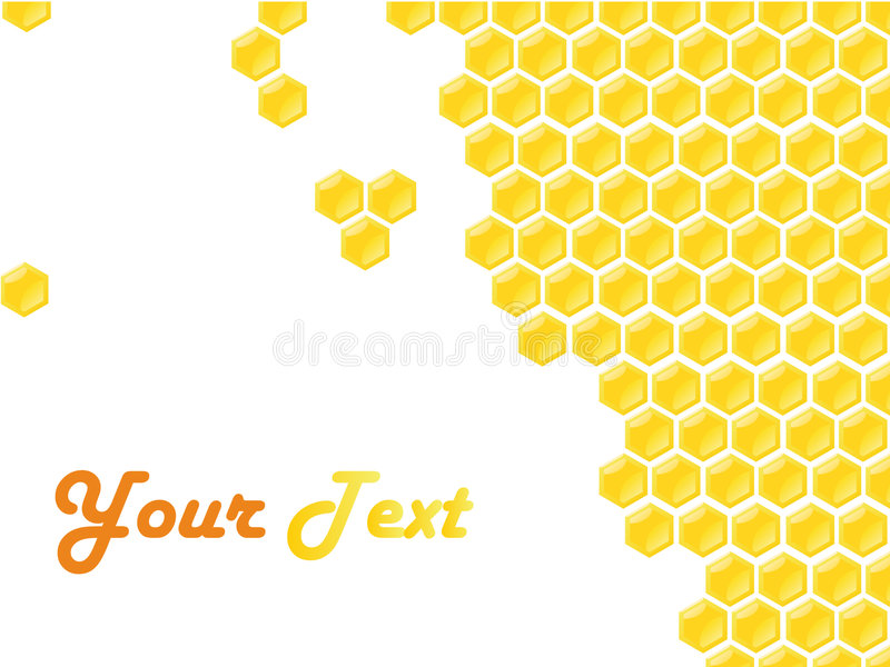 De stijlframe van de honingraat stock illustratie