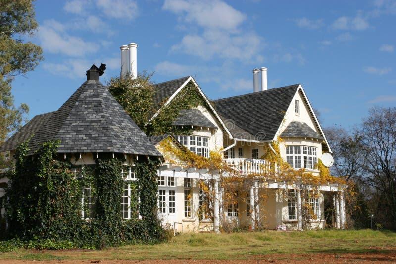 De stijlhuis van het land stock afbeeldingen
