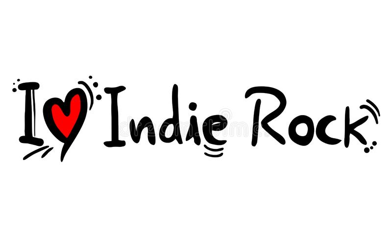 De stijlliefde van de Indierock vector illustratie