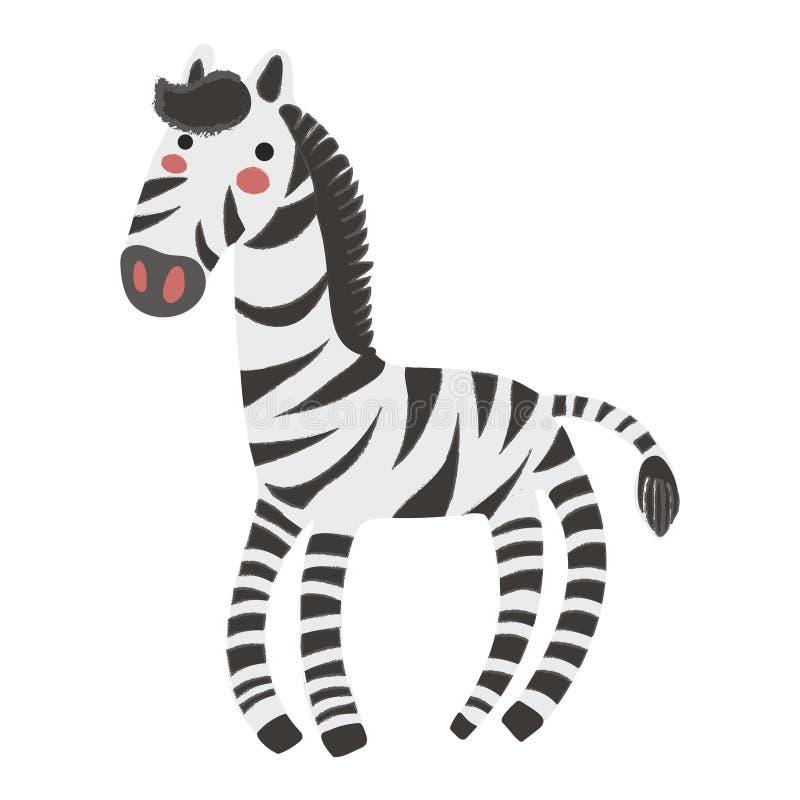 De stijlreeks van de illustratietekening van zebra vector illustratie