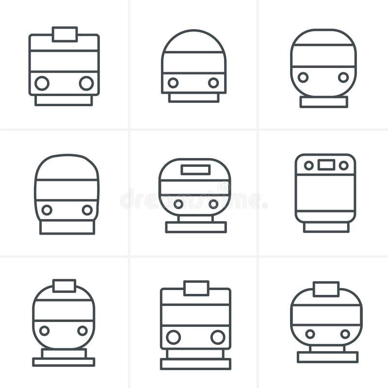De Stijlreeks van lijnpictogrammen vervoerpictogrammen vector illustratie