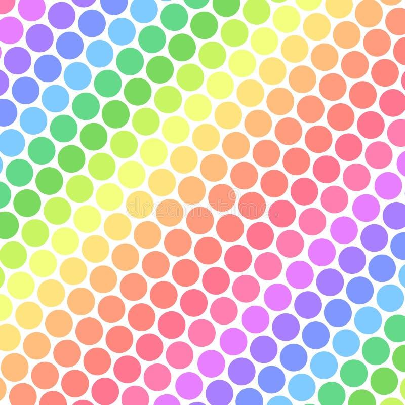 De Stippen van de Regenboog van de pastelkleur stock illustratie