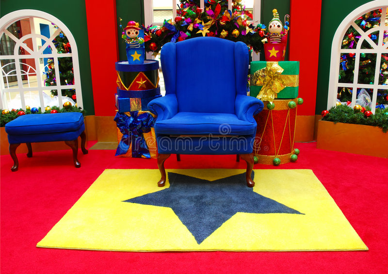 De Stoel van de kerstman stock afbeeldingen