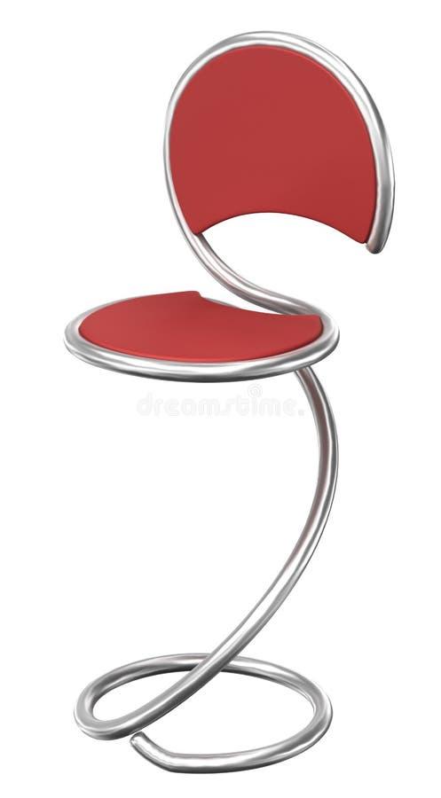 De stoel van de staaf vector illustratie